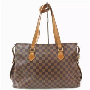 Authentic Louis Vuitton Damier Columbine Tote Bag